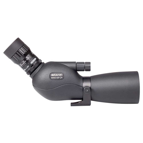 Opticron MM3 GA 60mm w/16-48x HR3 Eyepiece side view