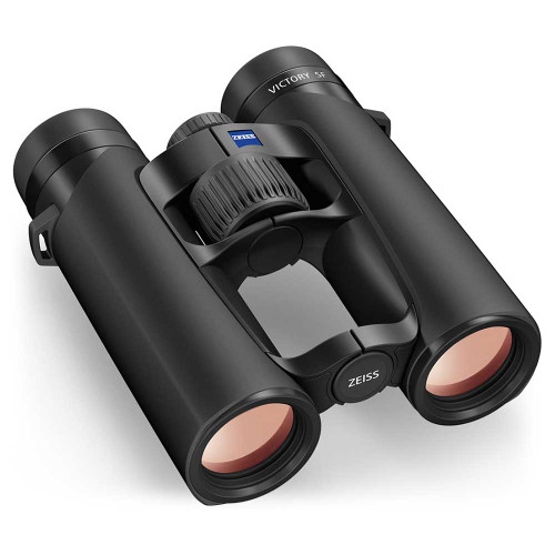 Zeiss Victory SF 10x32 binoculars, angled view
