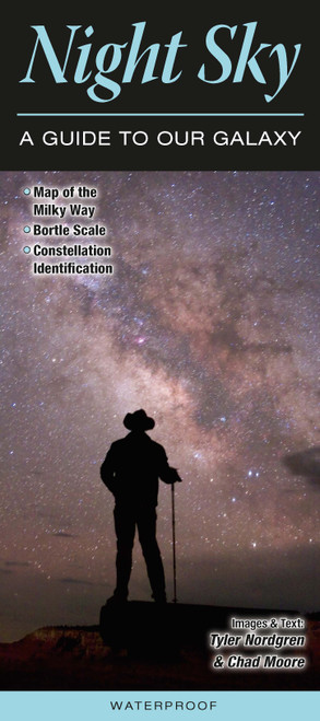 Night Sky -A Guide to Our Galaxy laminated folding id guide