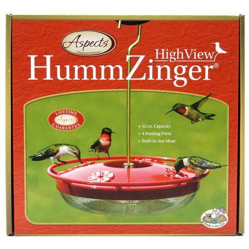 HummZinger HighView Hummingbird Feeder, 12 oz