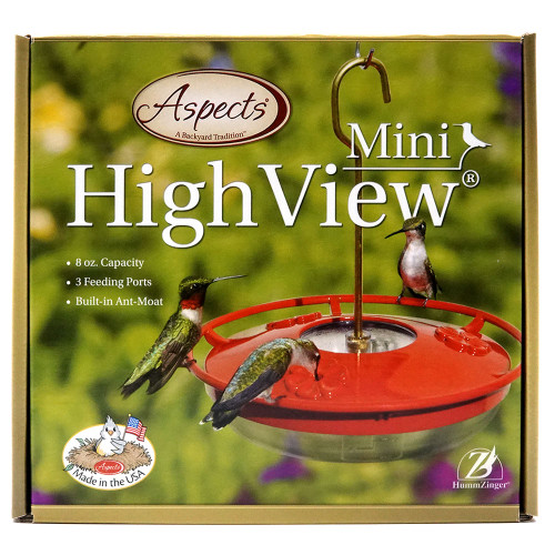 HummZinger HighView Hummingbird Feeder, 8 oz