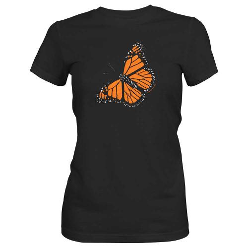 Women's Monarch butterfly t-shirt mockup
