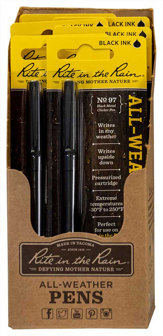 Rite in the Rain All-weather metal clicker pen, No. 97