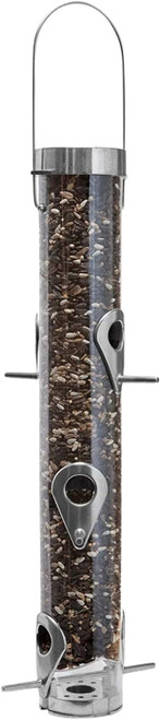 Droll Yankees- Sunflower feeder withRing Pull Silver 6 port