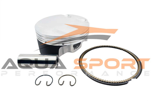 Sea-Doo oversize custom flat top forged pistons 100.50mm bore 10.5:1 compression ratio
