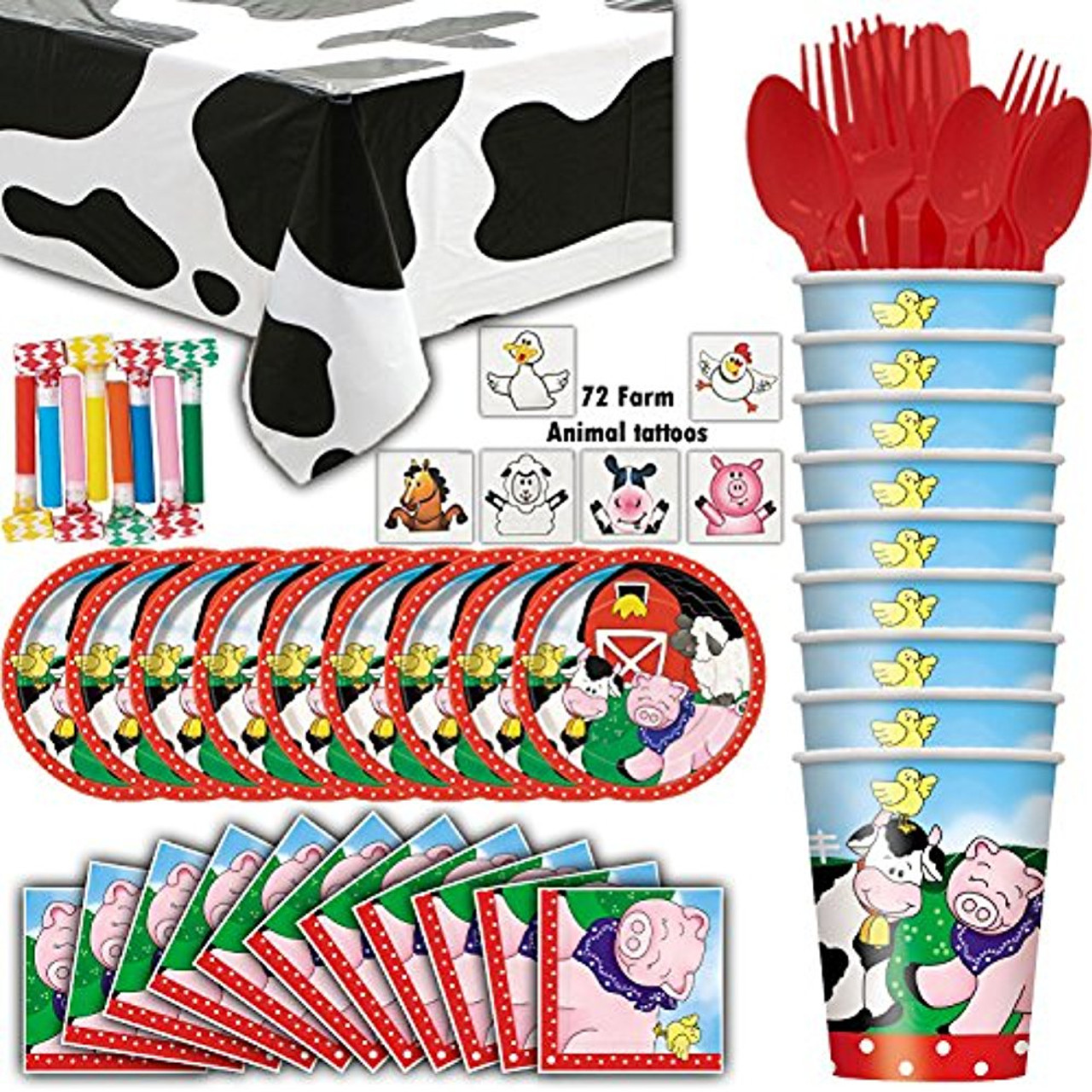 Leopard Party Pack with Plates Cups and Table Covering for 8 Paper Art Napkins