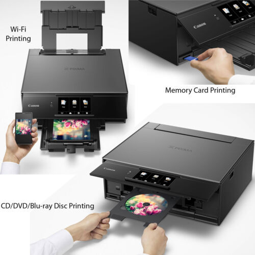 Canon Pixma TS9120 Wireless Inkjet All-in one Printer (Gray) with Scan,  Copy, Mobile Printing, Airprint & Google Cloud + Set of Ink Tanks + Photo