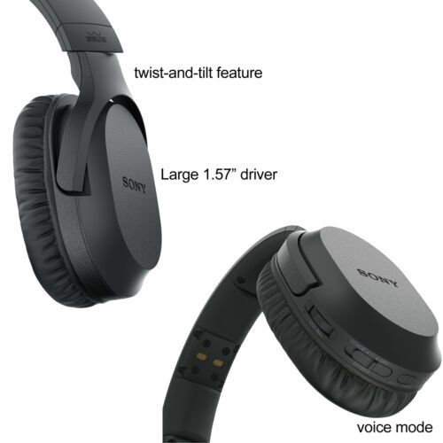 Sony Wireless Over Ear Noise Reduction Headphones Whrf400r With Transmitter Dock Tmrrf400 Sony Rechargeable Battery Connecting Cables Ac Adapter Herofiber Cleaning Cloth Hot Deals Electronics