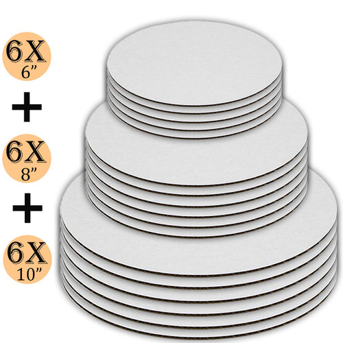 Cake Supplies Cake Board is Round Cake Holder with Lid is for 2-3 layer cakes Plastic Cake Container with Clear Dome Lid 9 Inch and Cake Boards 10 inch 5 Pack of each.