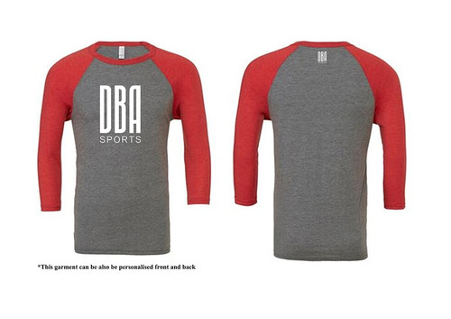 'DBA' Unisex 3/4 Sleeve Baseball T-shirt
