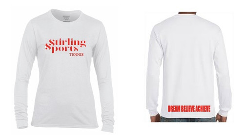 'STIRLING SPORTS' White Long Sleeve T-shirt Camp Range 2016 - 2017
