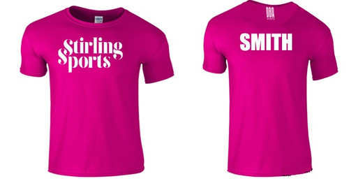 'STIRLING SPORTS' Unisex Personalised T-shirt