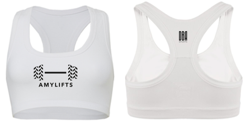 'AMYLIFTS' White Sports Bra