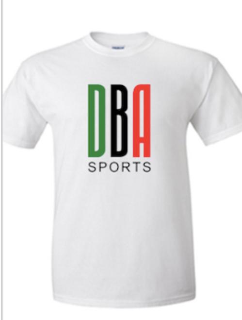 'KENYA LACROSSE' Unisex White T-shirt