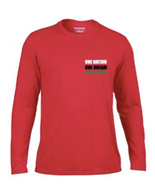 'KENYA LACROSSE' Red Long Sleeve