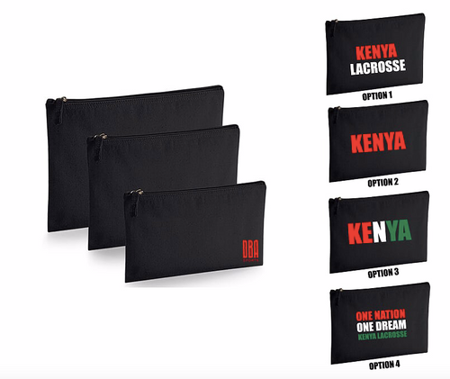 'KENYA LACROSSE' Large Travel Pouch