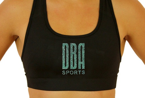 'DBA LOGO' Glitter Sports Bra