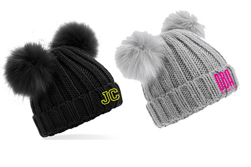 'DBA' Infant/Junior Double Pom Pom Beanie