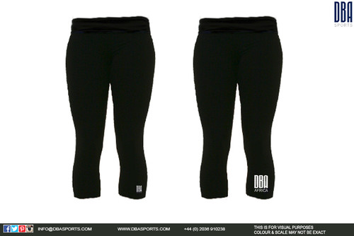 'DBA AFRICA' Black Leggings