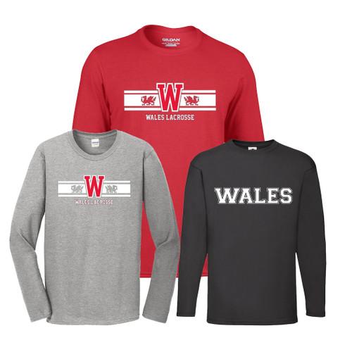 'WALES LACROSSE' New Long Sleeve T-shirts