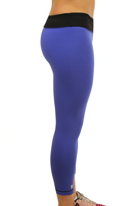 'EAT. SLEEP. TRAIN. REPEAT.' Royal Blue/Black REVERSIBLE Leggings