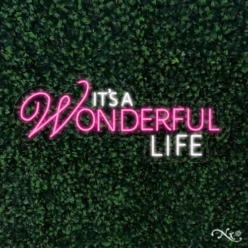 Its a wonderful life 15x37x1in. LED Neon Flex Sign-LF009