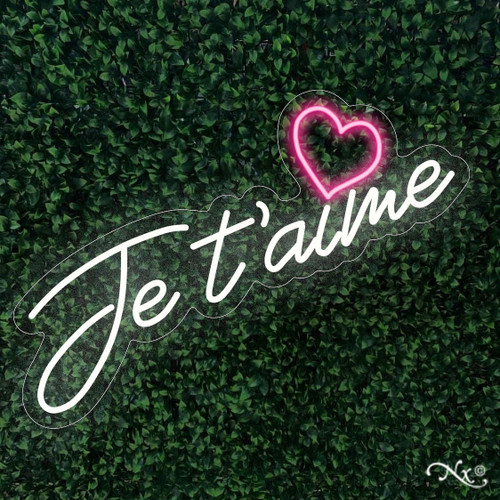 Je taime 31x23x1in. LED Neon Flex Sign-LF039
