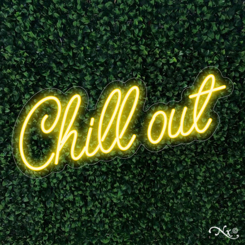 Chill out 32x12x1in. LED Neon Flex Sign-LF041