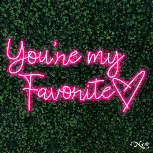 Youre my Favorite 36x20x1in. LED Neon Flex Sign-LF093