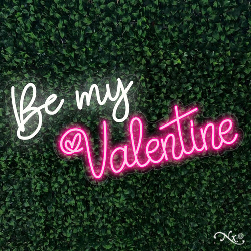 Be my Valentine 36x20x1in. LED Neon Flex Sign-LF094