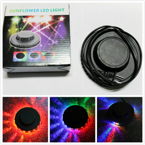 Voice activated 48 LED RGB Stage Light Lamp Disco Bar DJ Party Rotating Lighting