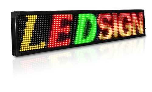15 x 53 inch Red/Green 20mm LED Programmable Sign Scrolling Message Display