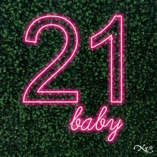 21 baby 30x24x1in. LED Neon Flex Sign-LF135