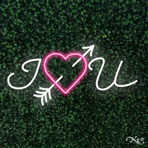 I heart you 16x32x1in. LED Neon Flex Sign-LF155