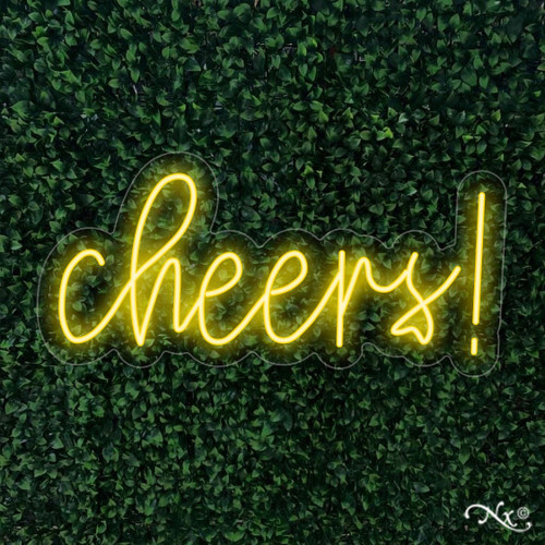 Cheers 11x24x1in. LED Neon Flex Sign-LF171