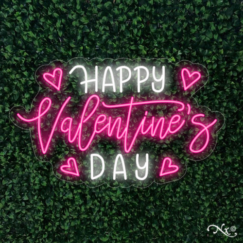 Happy valentines day 18x30x1in. LED Neon Flex Sign-LF185