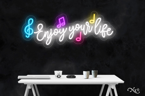 Enjoy Your Life 14x36x1in. LED Neon Flex Sign-LF188