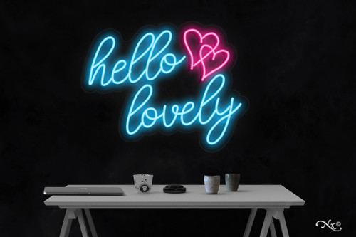 Hello lovely 20x24x1in. LED Neon Flex Sign-LF206