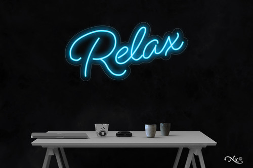Relax 14x30x1in. LED Neon Flex Sign-LF220