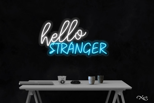 Hello stranger 18x32x1in. LED Neon Flex Sign-LF222