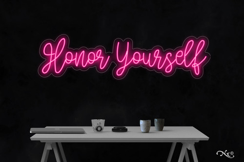 Honor yourself 11x42x1in. LED Neon Flex Sign-LF227
