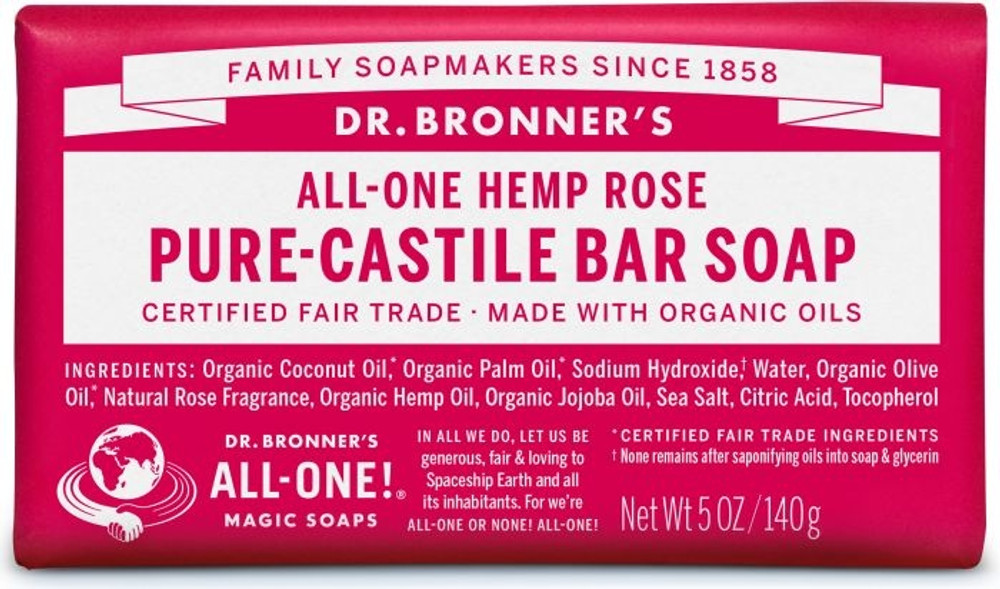 Dr. Bronner's Magic Soap - Rose CASTILLE Soap