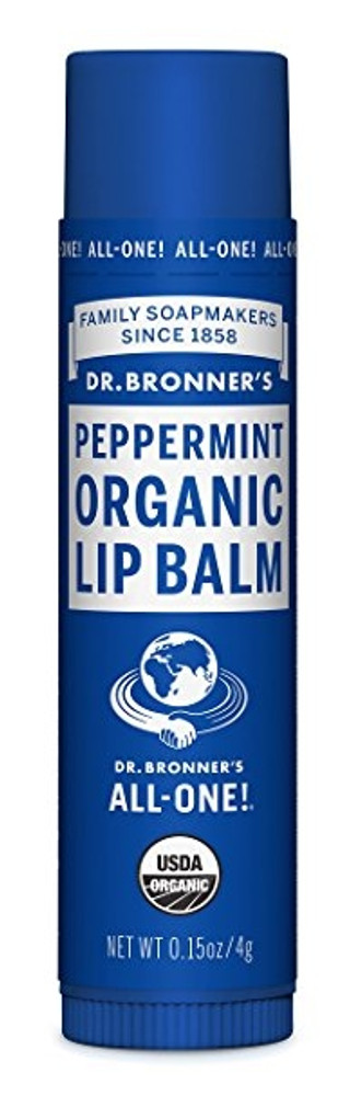 Dr. Bronner's Peppermint Organic Lip Balm