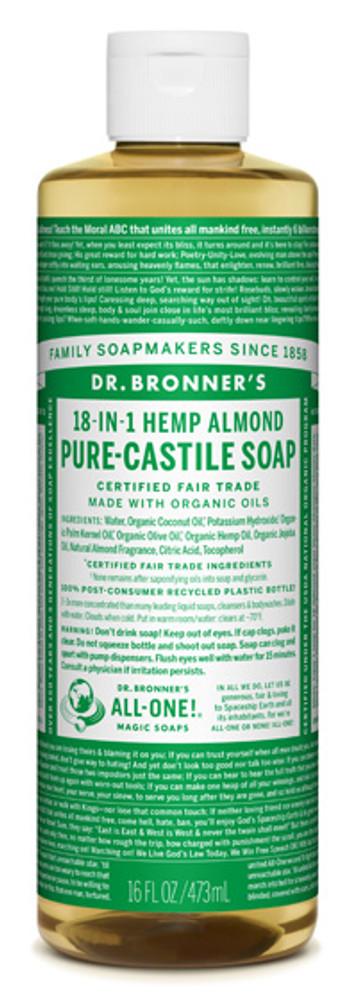 Dr. Bronner's Organic Pure-Castile Liquid Almond Soap