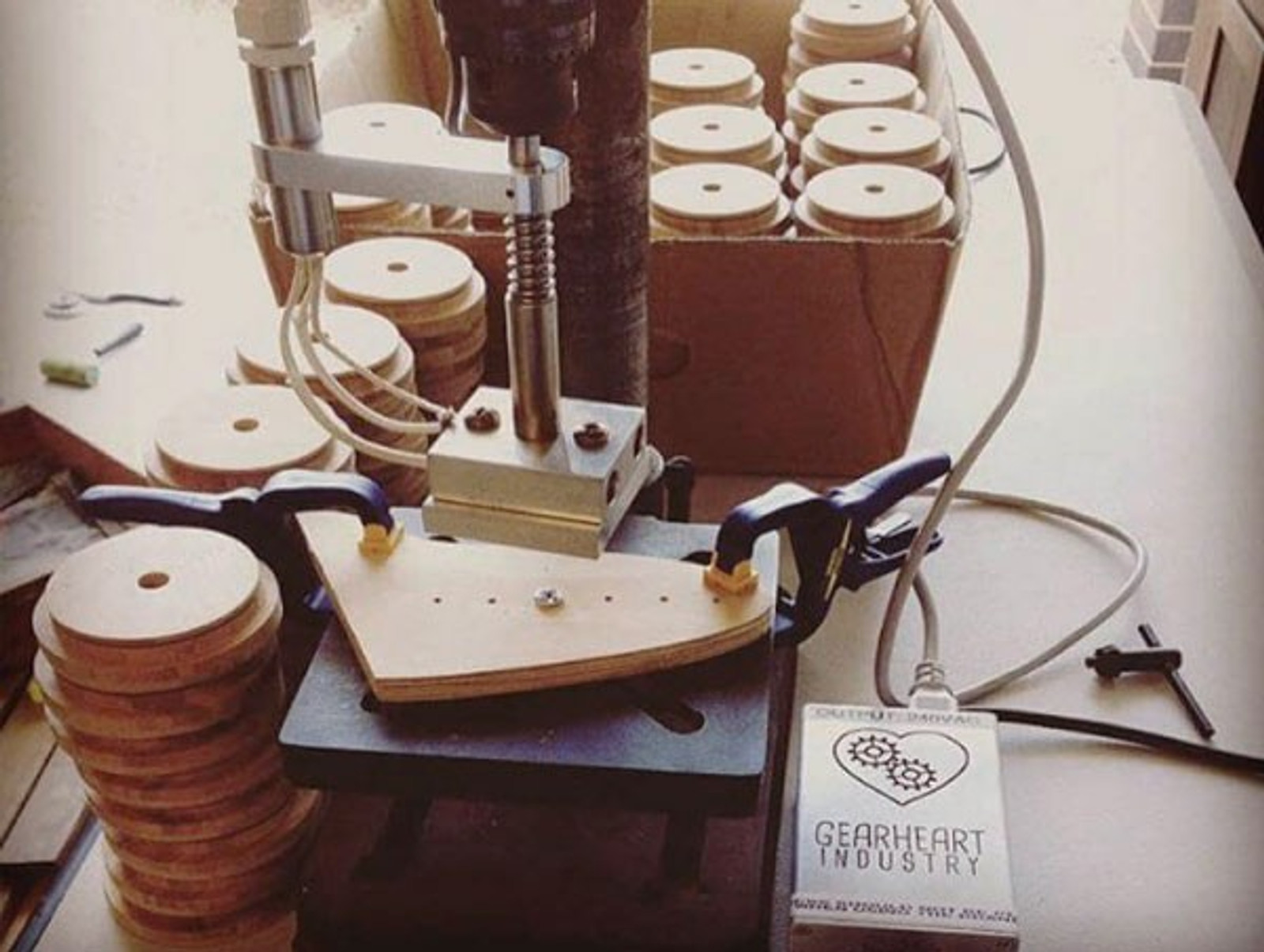Drill Press Mount Electric Branding Iron