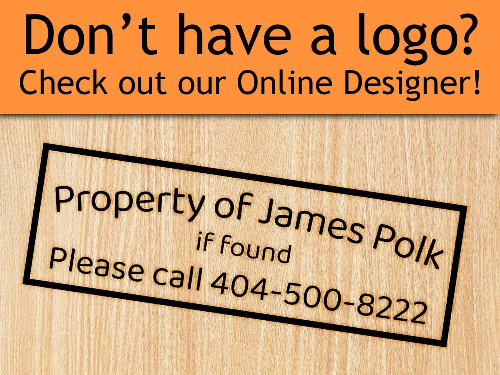 Online Designer - Rectangle Text Only