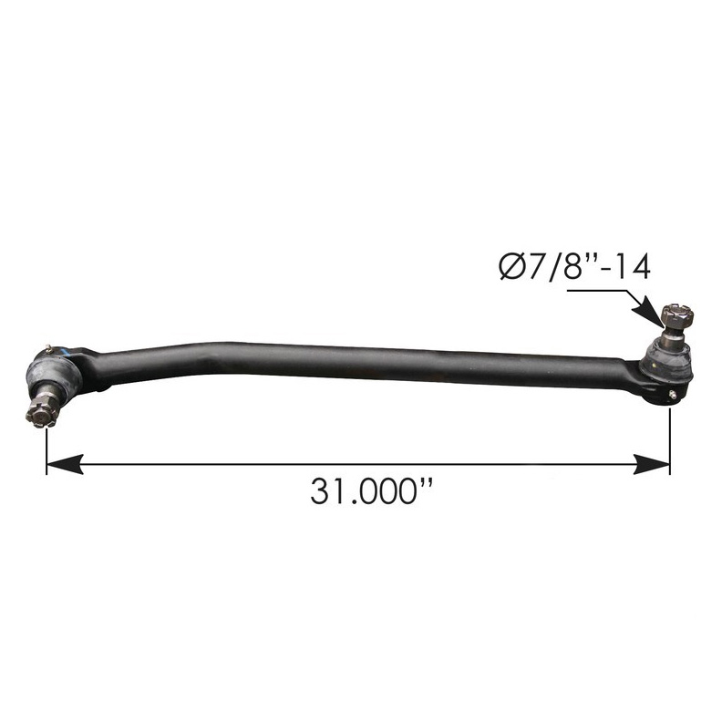 Drag link 31.000IN C to C for Peterbilt