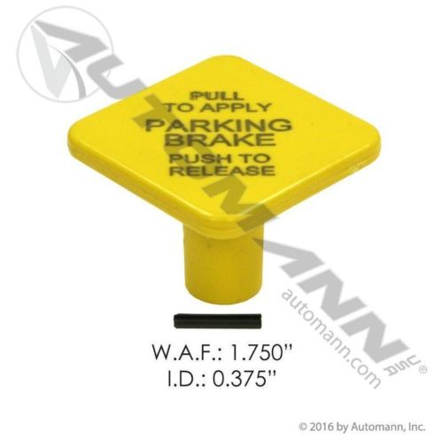 Bendix Style Yellow Diamond Parking Brake Knob for Push Pull Valves