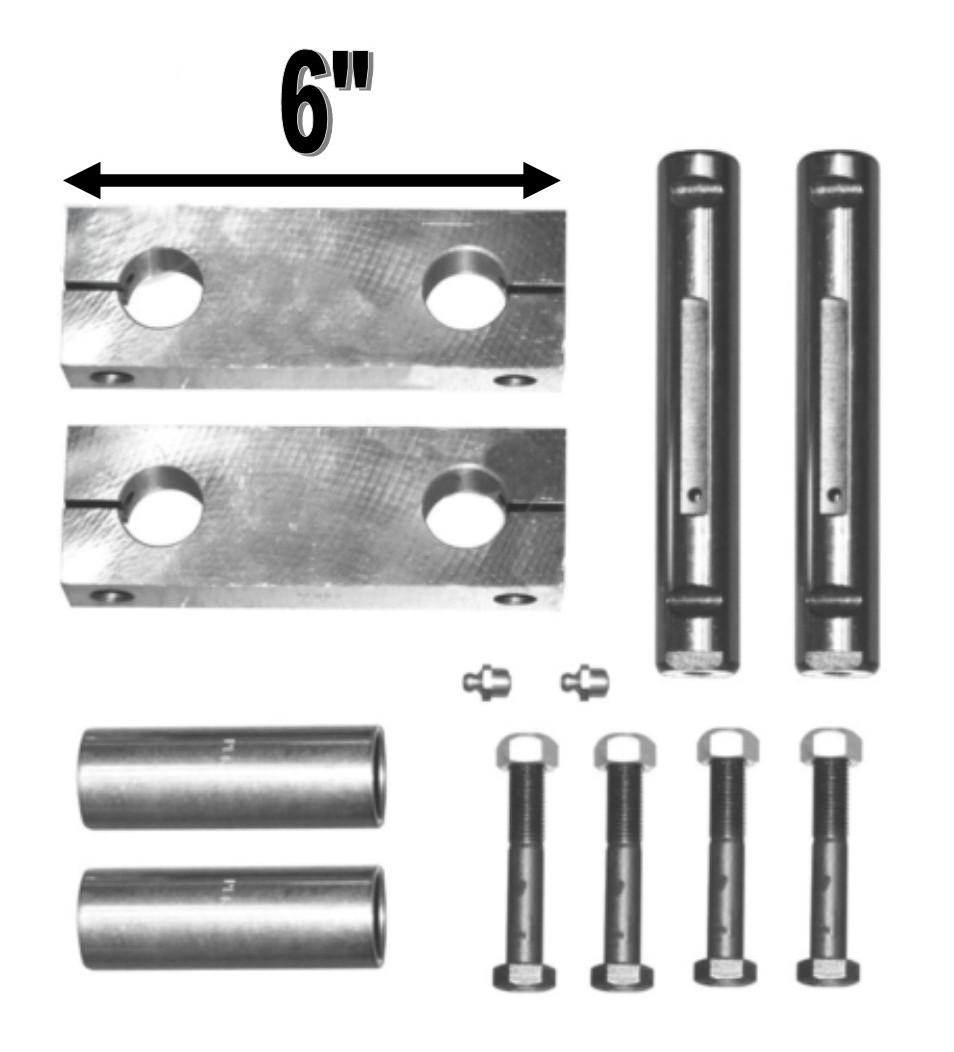 """Peterbilt Spring Shackle Kit (6"""" Side-bars)"""