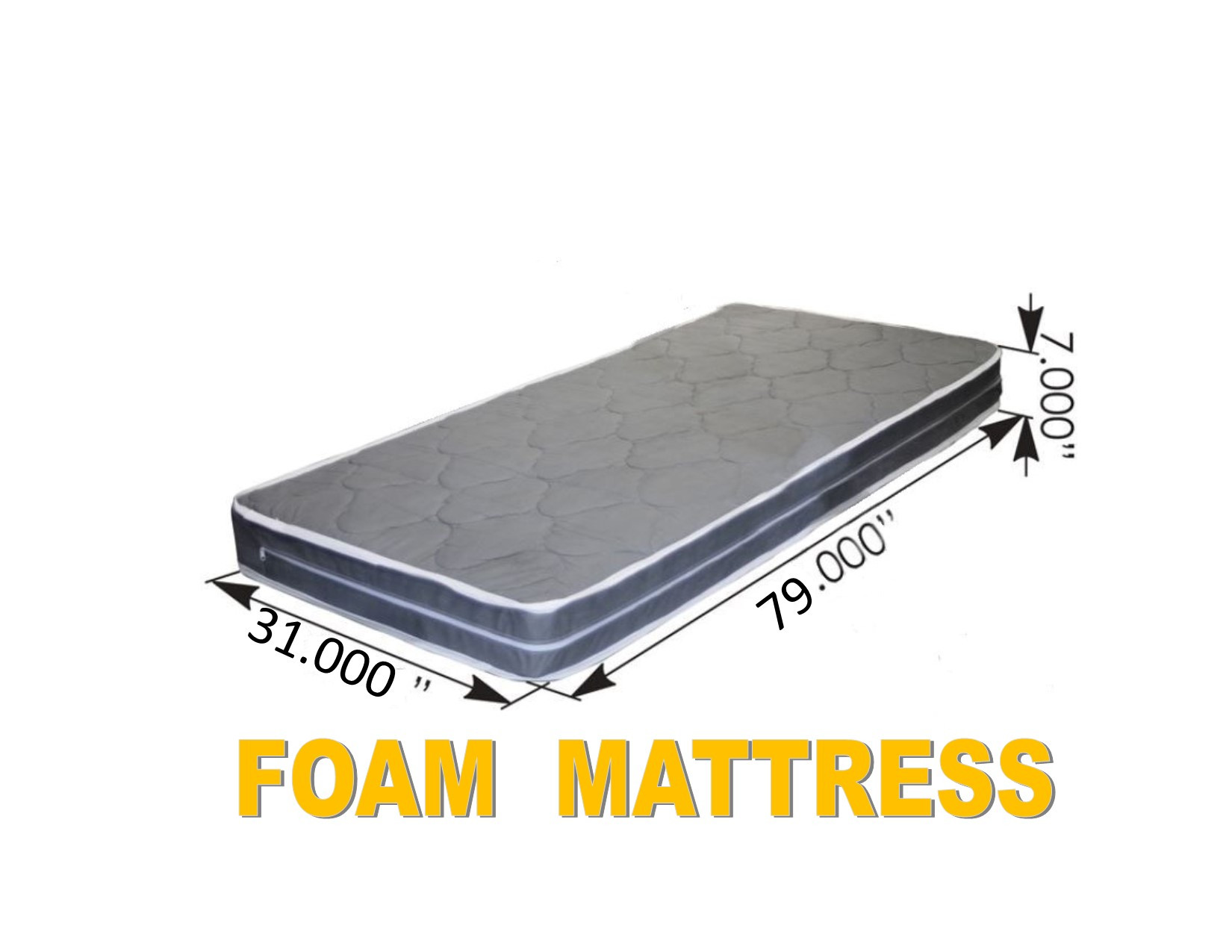 "FOAM MATTRESS (31"" x 79"" x 7"")Semi Truck Sleeper Cab Bed RV"